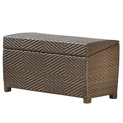 Stupendous Best Selling Outdoor Wicker Storage Ottoman Machost Co Dining Chair Design Ideas Machostcouk