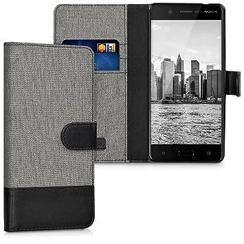 kwmobile Funda para Nokia 5 - Carcasa de Tela y Cuero sintético ...