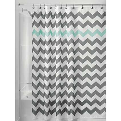 InterDesign Chevron Shower Curtain 72 X Inch Gray Aruba