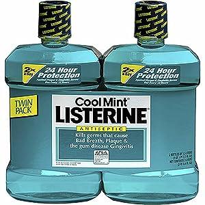 Product of Listerine Cool Mint Antiseptic Mouthwash, 2 pk./1.5L - Oral Rinse & Mouthwash [Bulk Savings]