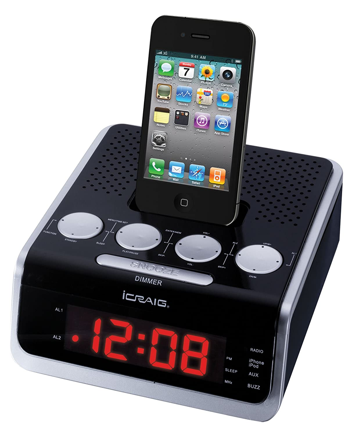 fm radio iphone brand new original icraig alarm clock with fm stereo radio 10629