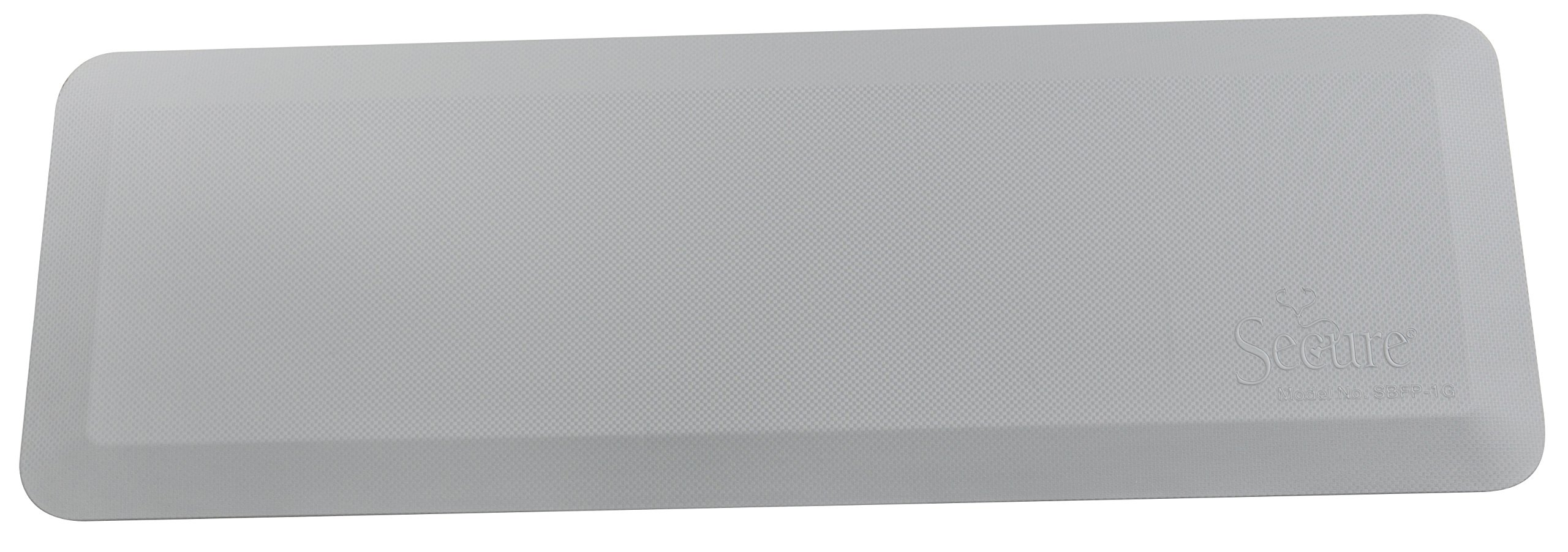"Secure SBFP-1G Flatpad Beveled Edge Bedside Fall Safety Mat, Gray, 70""Lx24""Wx1""H - Waterproof, Antimicrobial, Non Slip, Durable Cover Material"