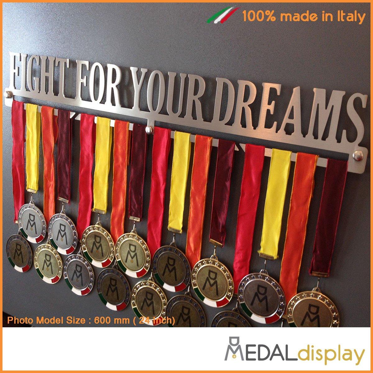 FIGHT FOR YOUR DREAMS Porta medaglie Medagliere da parete MEDALdisplay Medal Hanger