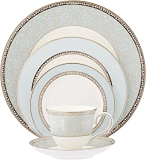Lenox Westmore 5 Piece Place Setting  sc 1 st  Amazon.com & Amazon.com | Lenox Autumn Gold-Banded Fine China 5-Piece Place ...