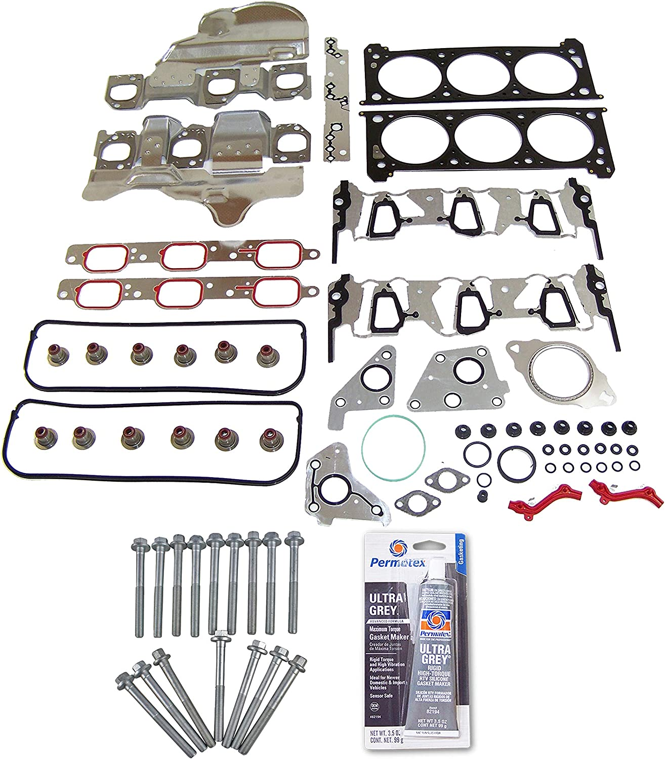 ECCPP Engine Head Gasket Set w//Bolts fit 06-11 Buick Chevrolet Pontiac Saturn 3.5 3.9 OHV Compatible fit for Gaskets Kit