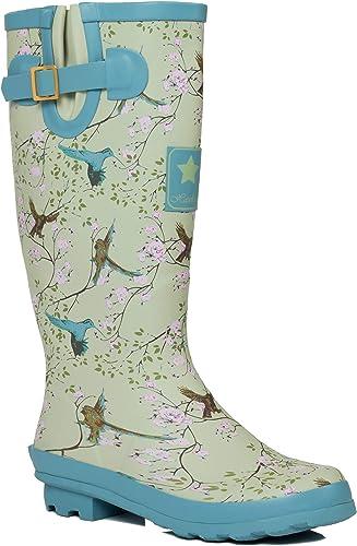 SPYLOVEBUY IGLOO Stivali da pioggia da donna, con fibbia