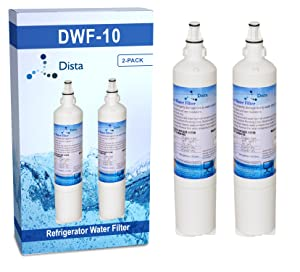 Dista Filter Water Filter Compatible for LG 5231JA2006A, LG 5231JA2006B, LG LT600P, Compatible With Kenmore 46-9990, 9990, 469990, 2 Pack