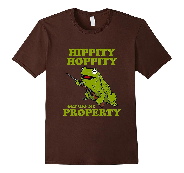 Hippity Hoppity Get Off My Property TShirt - Frog Meme Shirt-Vaci