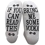 If You Can Read This Bring Me Some Vodka Gift Socks - Perfect Hostess or Housewarming Gift Idea, Birthday Present, or Mother's Day Gift for a Vodka Enthusiast