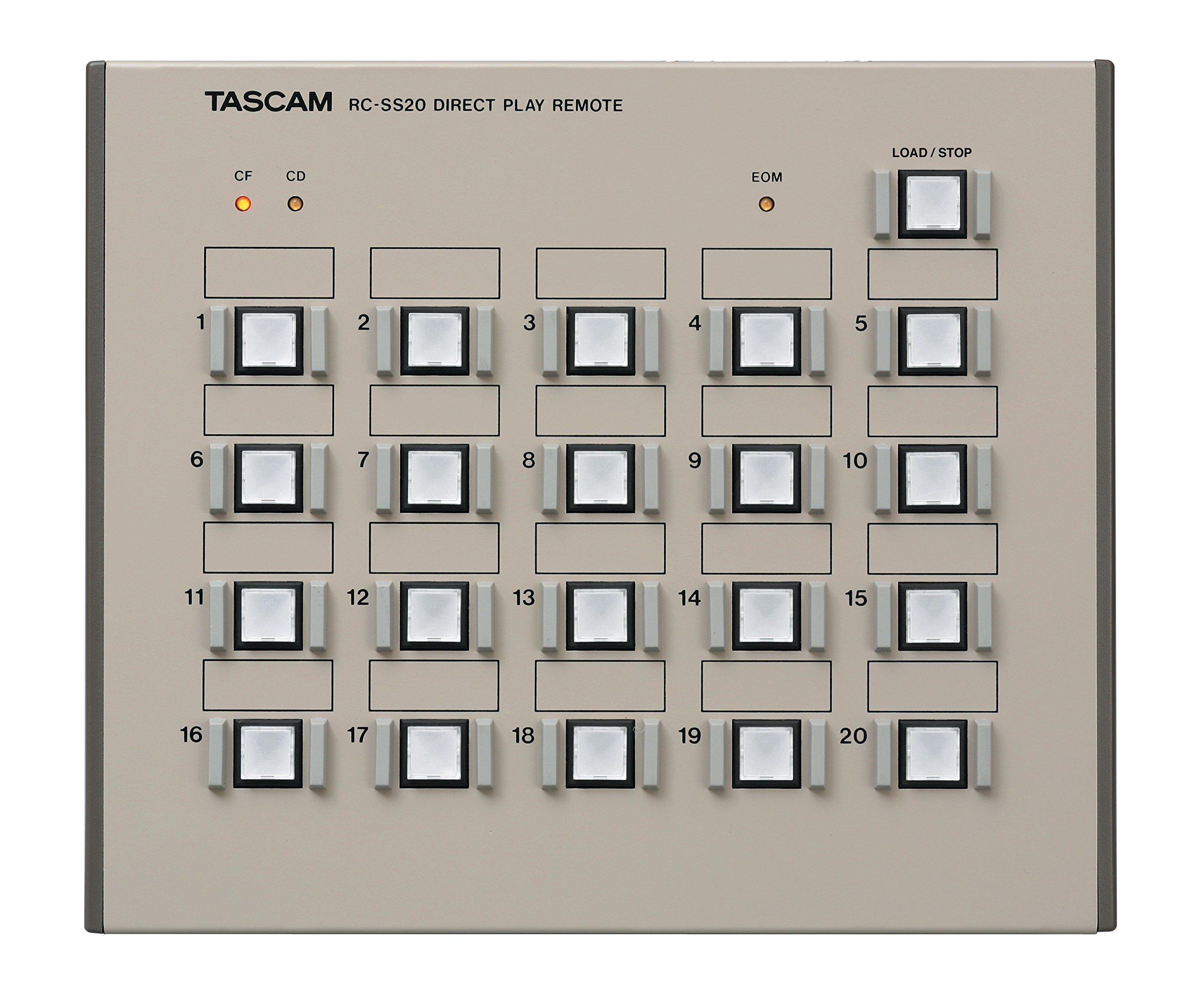 Tascam RC-SS20 Direct Play Remote for Solid State Recorders by Tascam (Image #1)