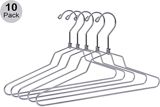 US Stainless Steel Clothes Hangers For Dress Shirt Pants Stainless Steel Metal