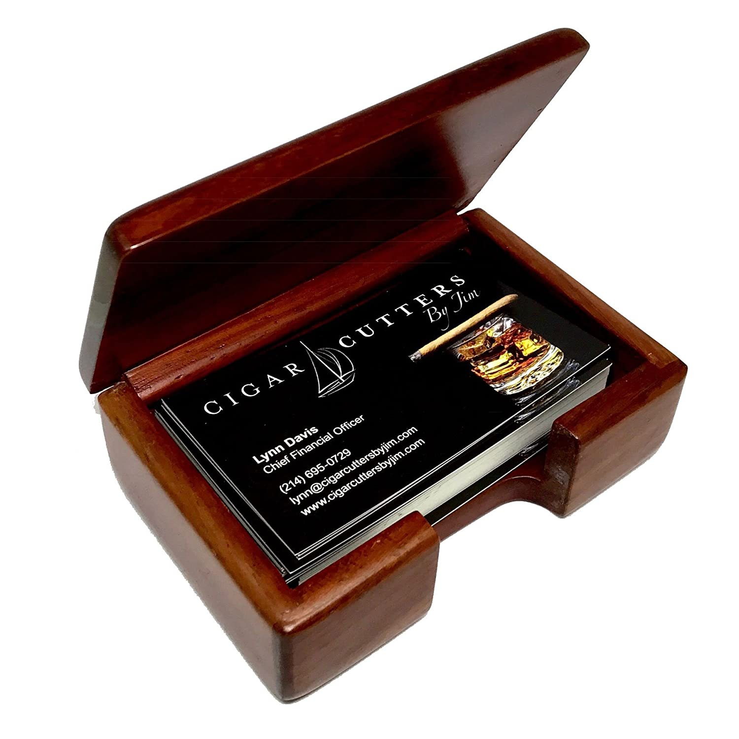 Amazon alligator business card holder rosewood business card amazon alligator business card holder rosewood business card box office products reheart Choice Image