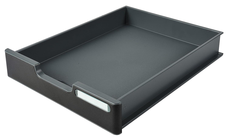 Exacompta Modulodoc Ecoblack - Cajón con frontal y porta-etiqueta, 56 mm, color negro 336714D
