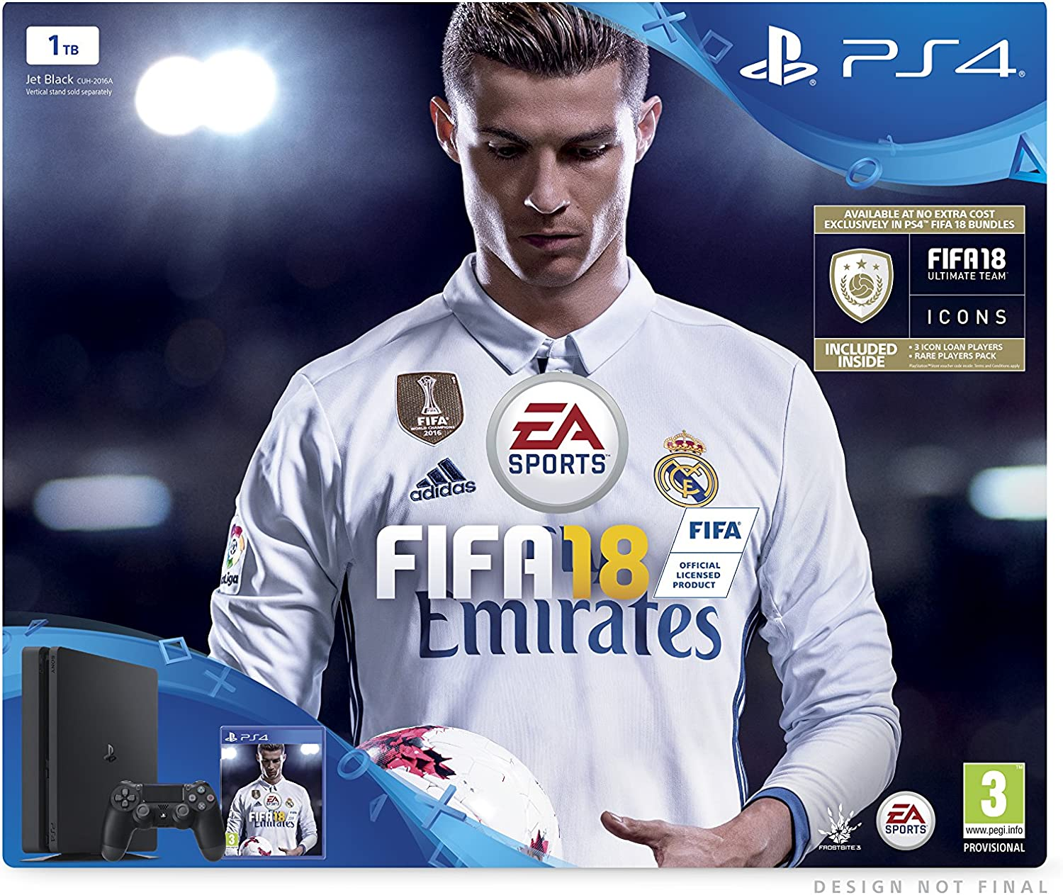 Sony PlayStation 4 FIFA 18 1 TB with FIFA 18 Ultimate Team Icons ...