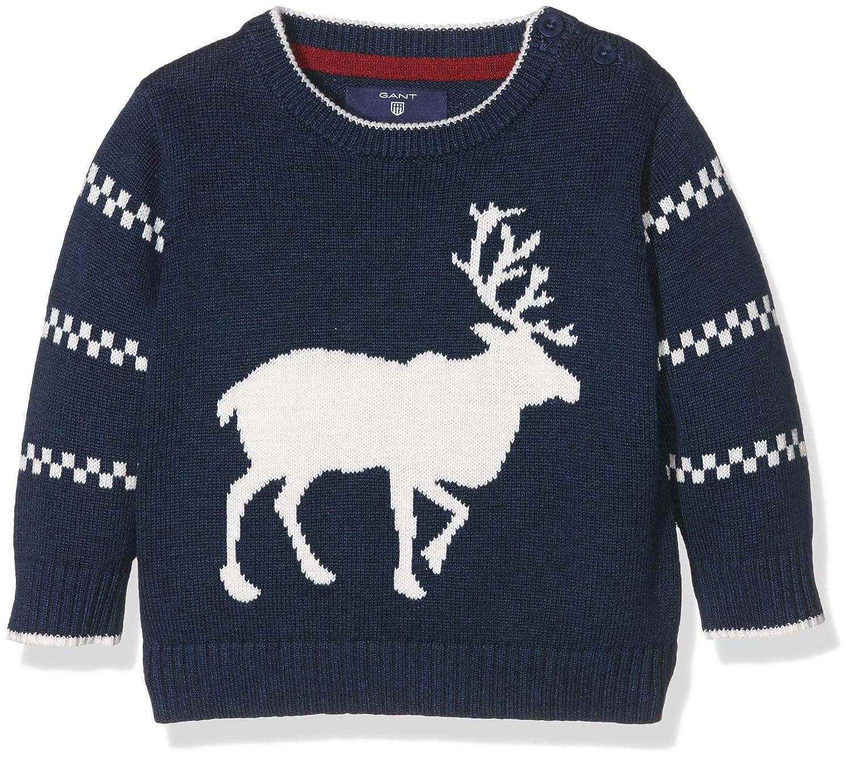 GANT Baby-Jungen Pullover O. Boy Reindeer Crew