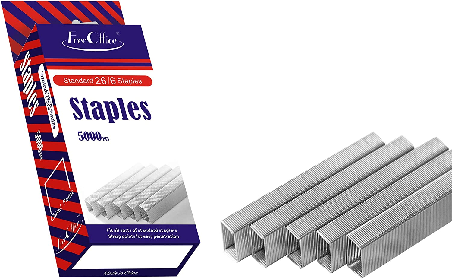 Standard Staples 26/6 1/4In Leg Length Free Office 5000PCS per Pack