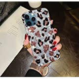 Hapitek Compatible with iPhone 12 Pro Max Case Leopard Cheetah Cute Cases for Girls Women Slim Soft Flexible TPU Marble Prote
