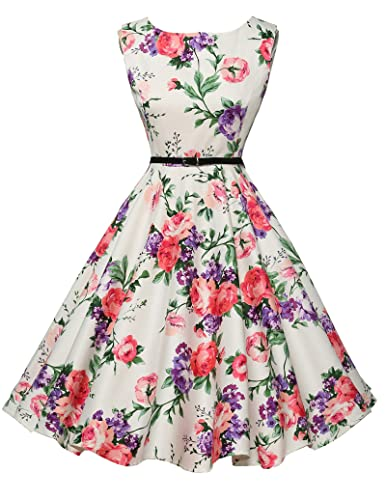 Belle Poque®Women's Halter Knee-Length Pleated Summer Party Dresses