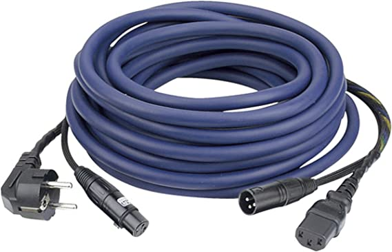 FP08 Cable de alimentación/señal 15m schuko-IEC / XLR-XLR, AUDIO