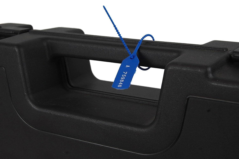 100 x Sicherheitsplomben Plomben Blau Durchziehplomben