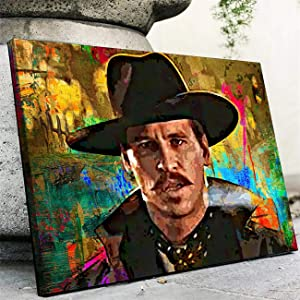NATVVA Living Room Decor Doc Holliday Poster Wall Decor Canvas Art Prints Painting Picture Artwork Home Decoration Bedroom No Frame