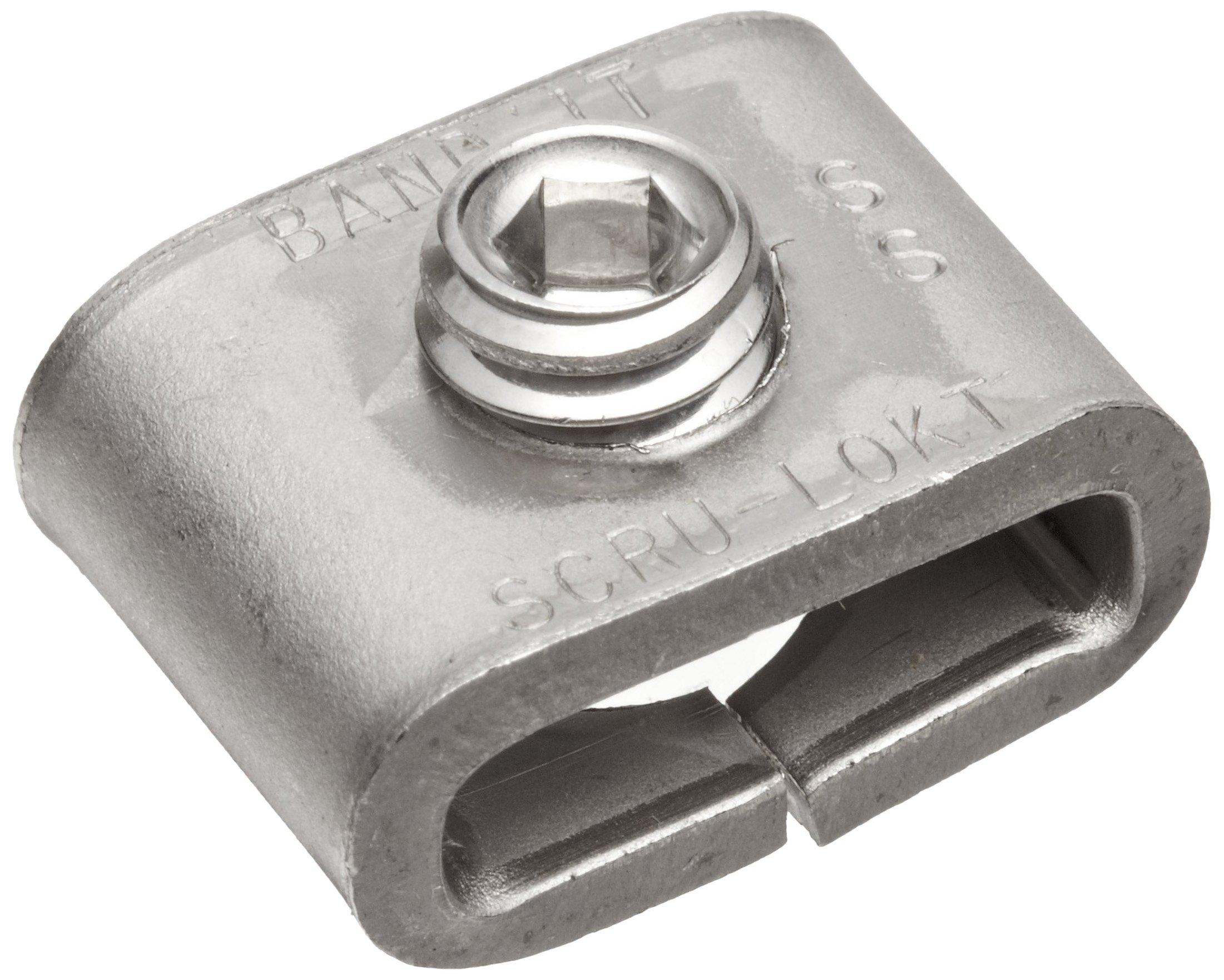 BAND-IT C72499 301 Stainless Steel 1/4 Hard Steel Scru-Lokt Buckle, 1/2'' Width, 25 per Box by Band-It