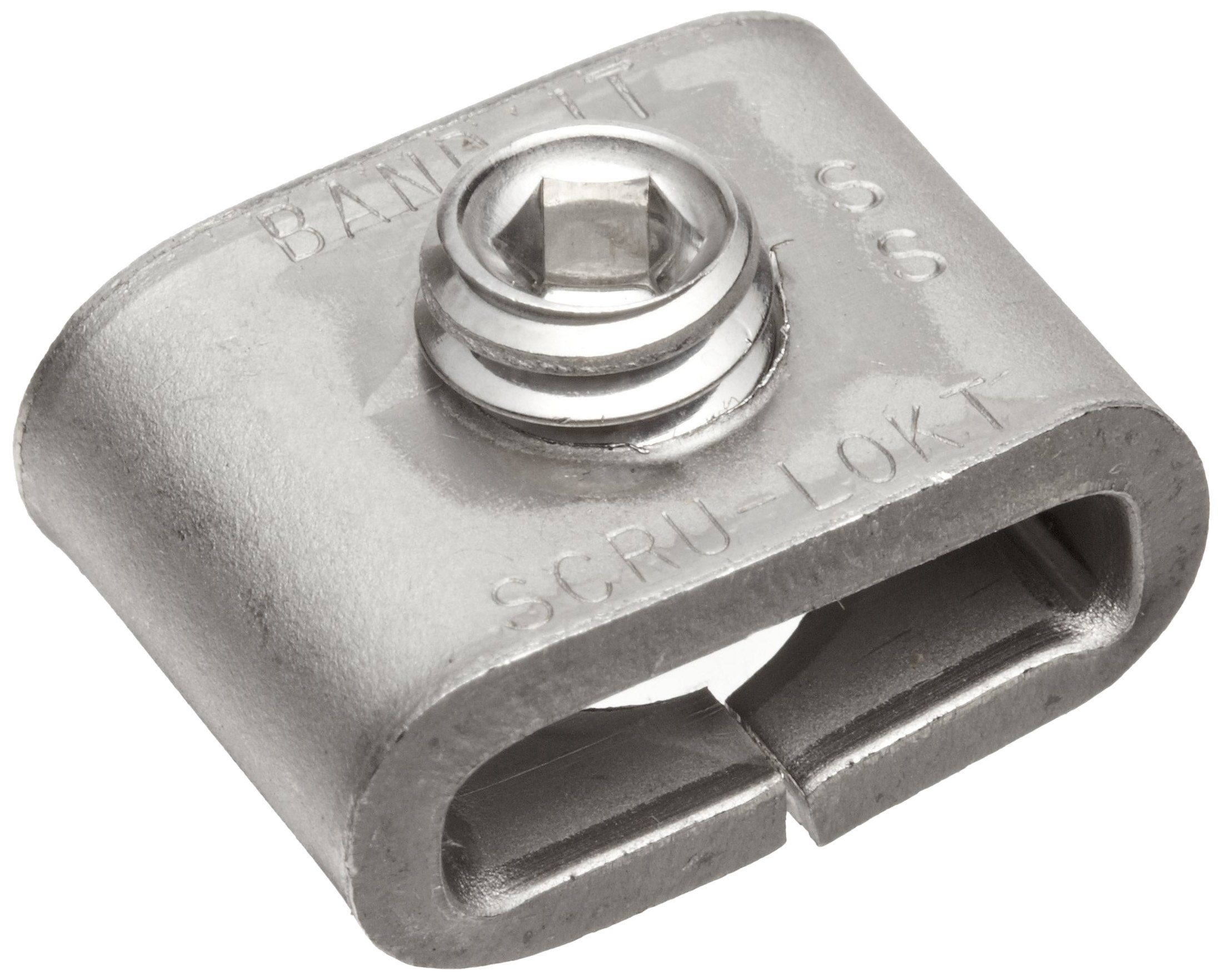 BAND-IT C72499 301 Stainless Steel 1/4 Hard Steel Scru-Lokt Buckle, 1/2'' Width, 25 per Box