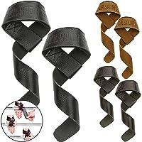 C.P. Sports Premium lifting straps leer voor fitness, bodybuilding en krachttraining - voor vrouwen en mannen - 2 jaar…