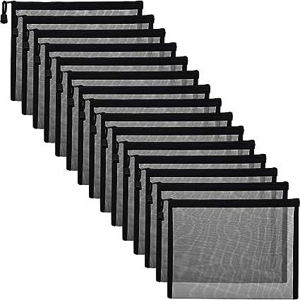 Amazon.com: 15 bolsas de malla negras con cremallera para ...