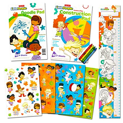 Amazon.com: Fisher Price Coloring Book Set for Toddlers -- Coloring ...