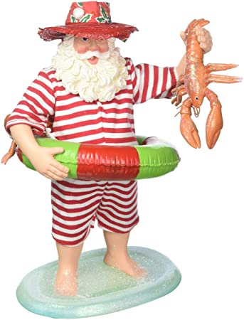 Department 56 by The by The Sea Santa Lobster Tales Figurine, 11 , Multicolor