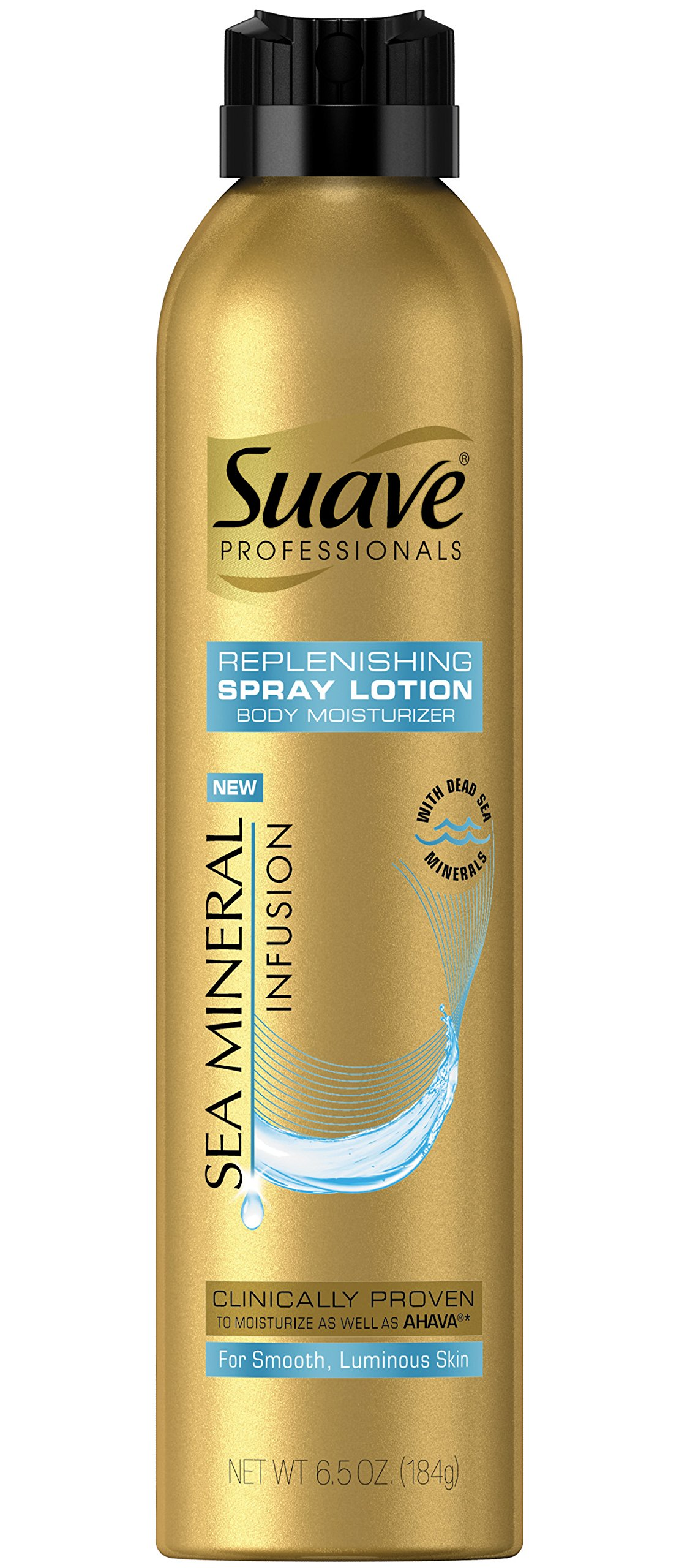 Suave Gold Professionals Hand and Body Lotion Spray, Sea Mineral, 6.5 Ounce