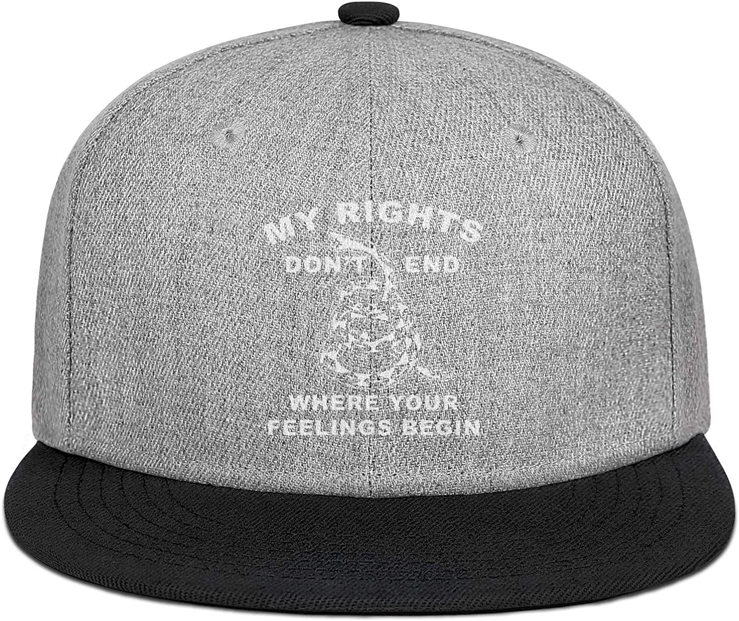 My Rights Dont End Where Your Feelings Begin Snake Men Womens Wool Ball Cap Adjustable Snapback Beach Hat