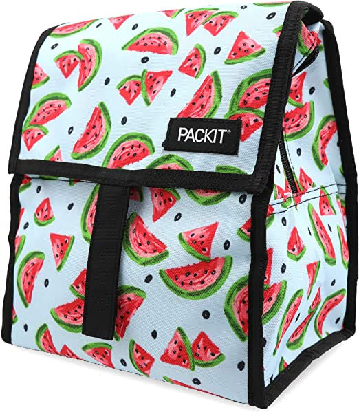 PackIt Nevera portátil para el Almuerzo, Multicolor, 13 x 22 x 25 cm, diseño de sandía: Amazon.es: Deportes y aire libre