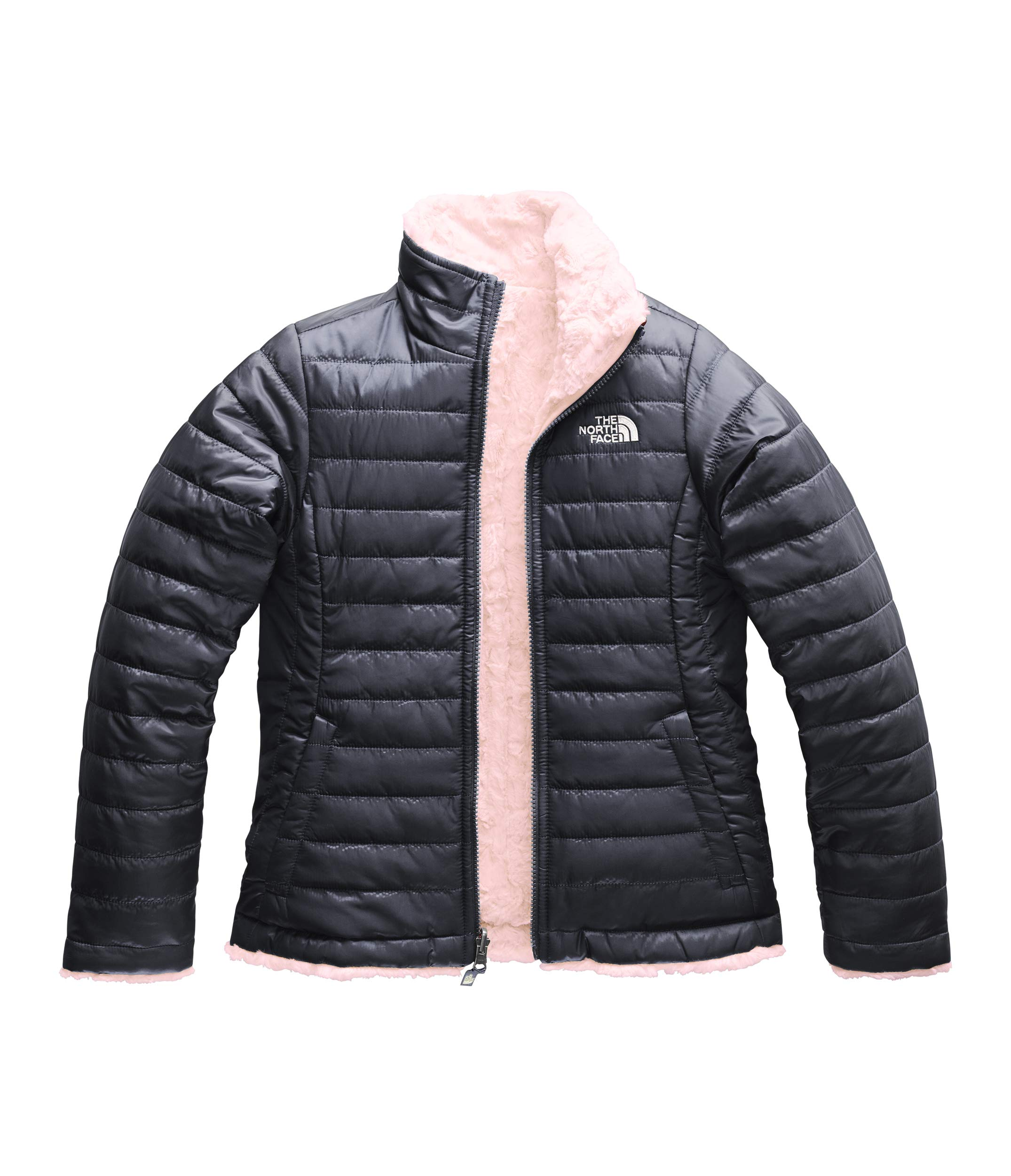 The North Face Girl's Reversible Mossbud Swirl Jacket - Periscope Grey - XS