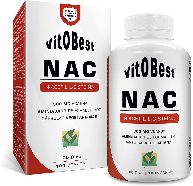 Aminoácido Acetil Cisteína NAC 100 Vcaps.- Suplementos Alimentación y Suplementos Deportivos - Vitobest