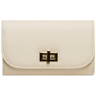CASPAR TA381 Damen elegante Envelope Clutch Tasche//Abendtasche mit langer Kette