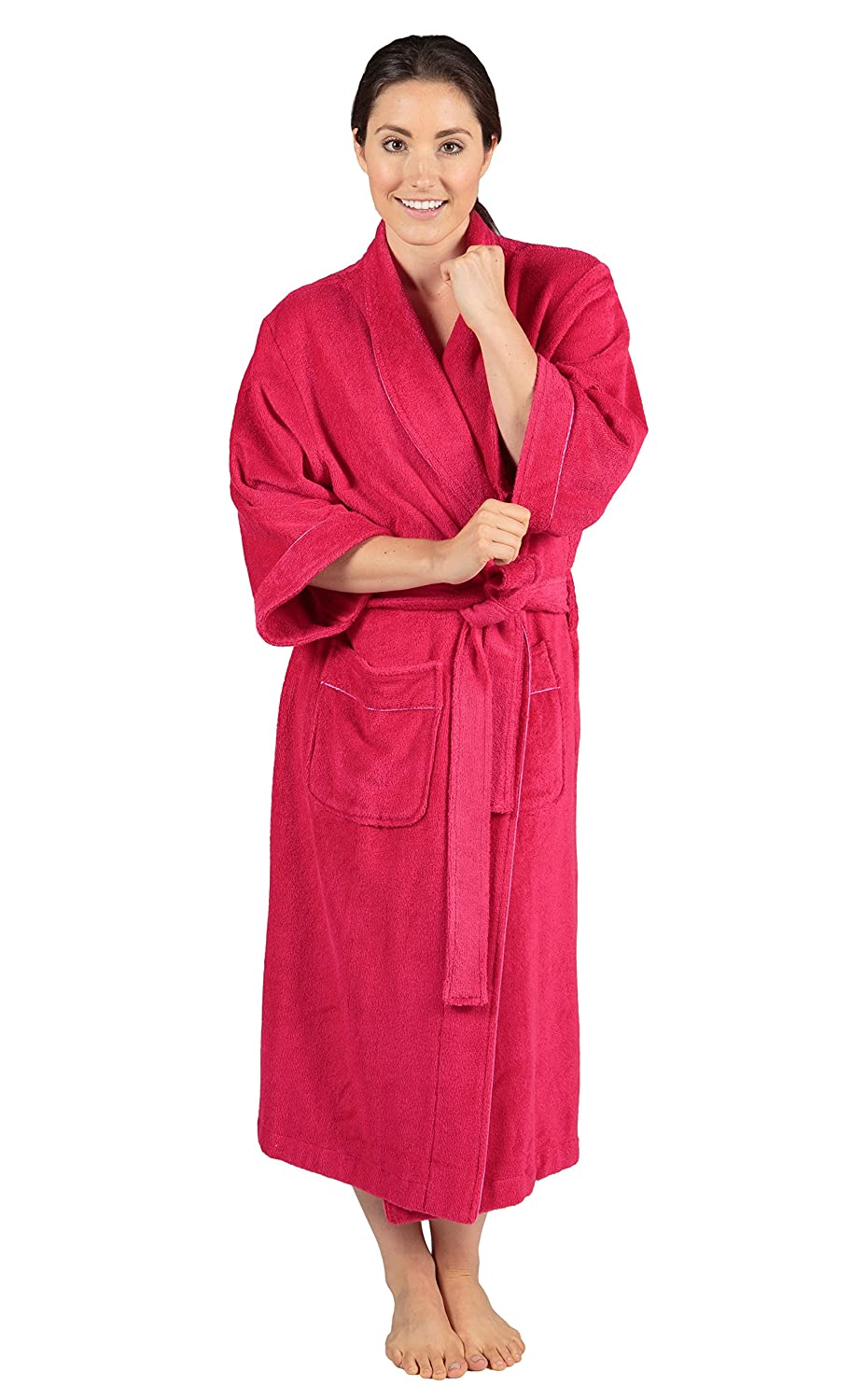 486dec0127 Women s Luxury Terry Cloth Bathrobe - Bamboo Viscose Robe by Texere  (Ecovaganza) at Amazon Women s Clothing store