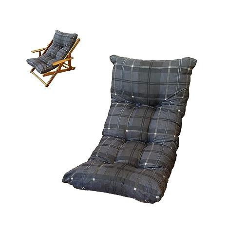 Cojín acolchado de repuesto para tumbona Relax, color gris ...