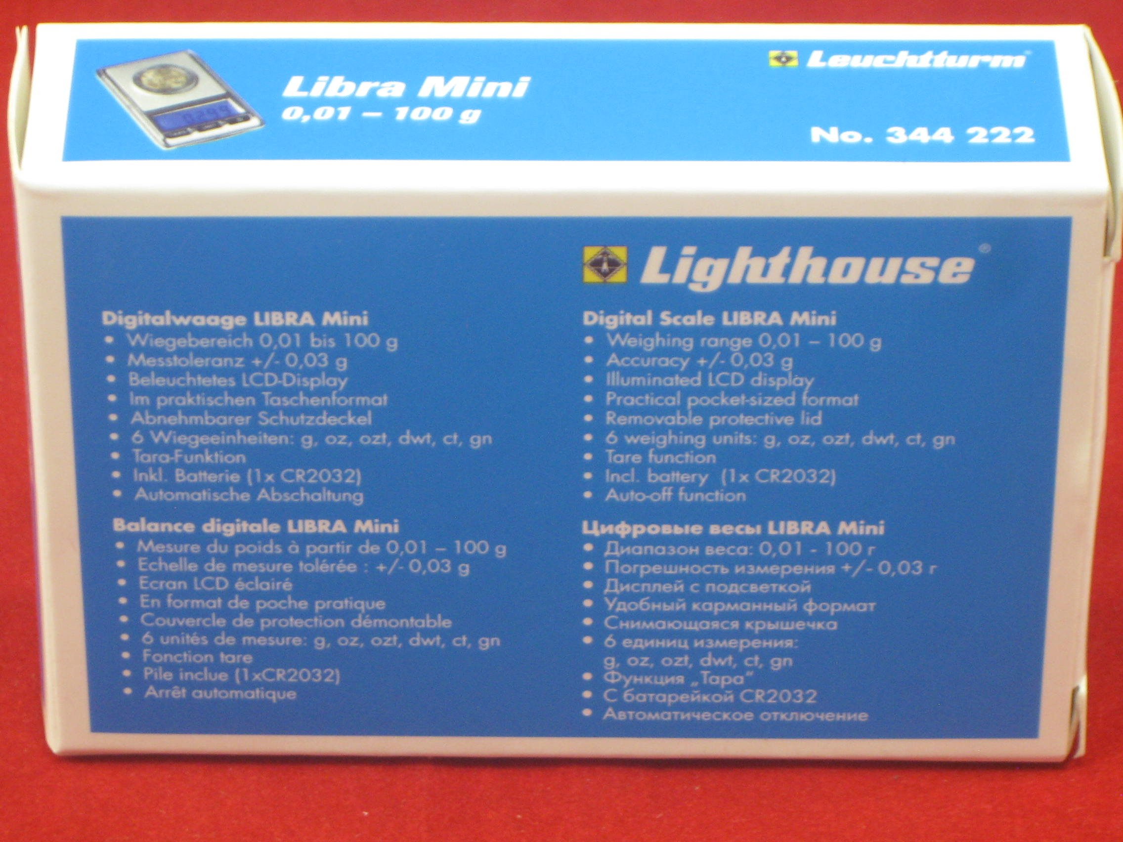 (1) Lighthouse Libra 0.01 Gram - 100 Gram Digital Pocket Scale for Coin Jewelry Gold Silver