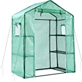 Ohuhu Greenhouse for Outdoors with Observation Windows New Version, Small Walk-in 3 Tiers 6 Shelves Stands Plant Green…