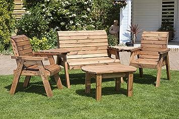 Conversación HGG sofá conjunto con 2 plazas banco – 2 sillas – 2 bandejas desmontable y