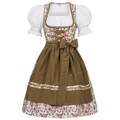 Pieces Oktoberfest D'octobre Dirndl Set Josie Bavarois Carnaval Leathers Femme Gaudi Robe Pour Fete 3 Costume mv8Nn0w