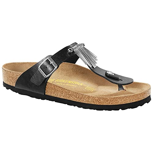 85eaad2b8c18 Birkenstock Thong Gizeh Graceful Licorice Fringe  Amazon.ca  Shoes ...