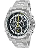 Bulova Men's Chronograph Precisionist 96B175 Champlain Silver Tone/Black Stainless Steel Watch