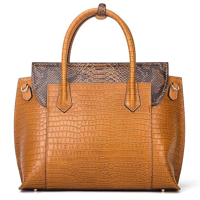 Amazon.com: Mujer de bolsos de piel genuino de lujo – Bolsos ...