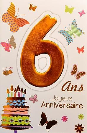 Age Mv 69 2006 Carte Joyeux Anniversaire 6 Ans Enfant Garçon Fille