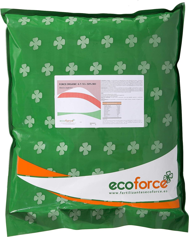 CULTIVERS Force Organic de 5 kg. Abono granulado para Plantas Ecológico con NPK (6-7-10) + 50% Materia orgánica y Micro Elementos