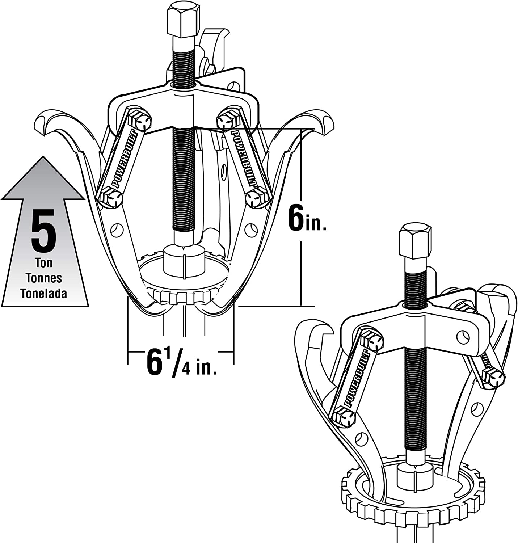 Powerbuilt Alltrade 648648 Kit 17 Combination Reversible Jaw Gear Puller Tool Set