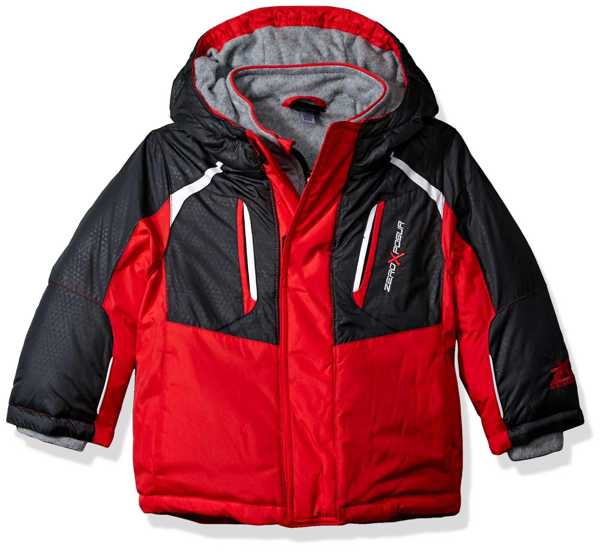 ZeroXposur Toddler Boys' Jake Heavyweight Jacket, Red, 2T